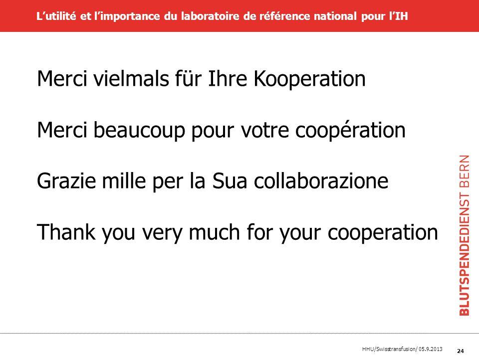 Merci vielmals für Ihre Kooperation
