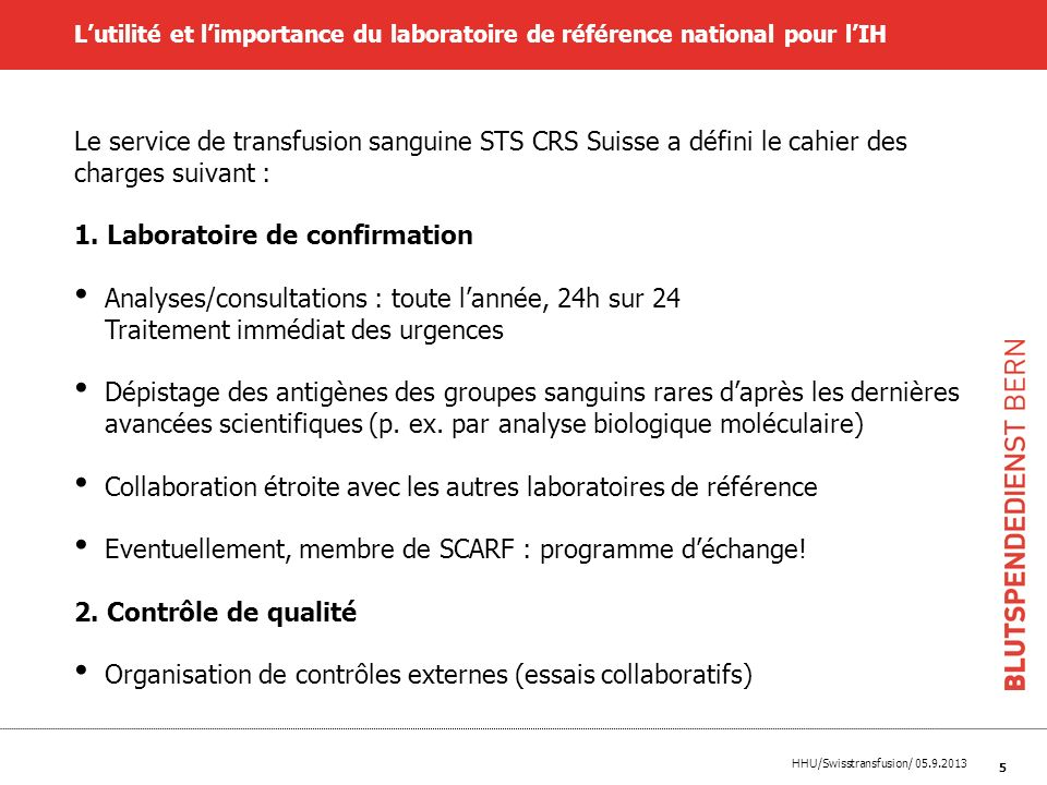Laboratoire de confirmation