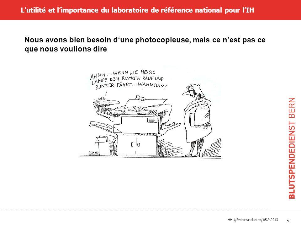L'utilité et l'importance du laboratoire de référence national pour l'IH