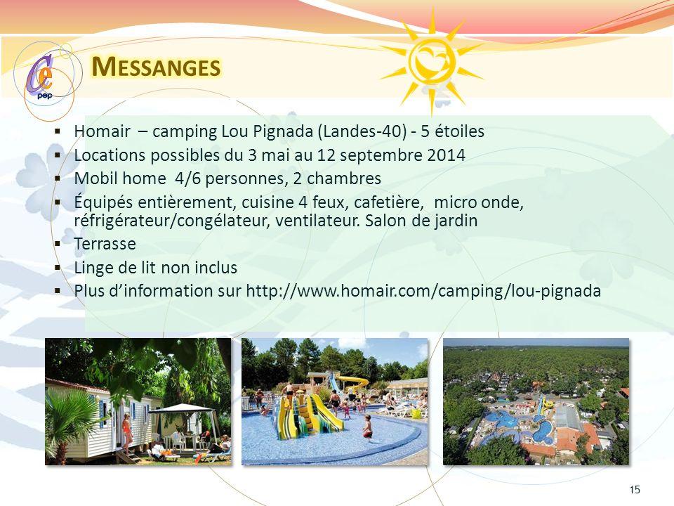 e C Messanges Homair – camping Lou Pignada (Landes-40) - 5 étoiles