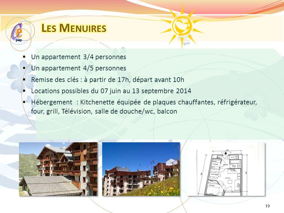 e C Les Menuires Un appartement 3/4 personnes