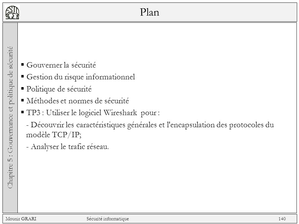 Chapitre 5 : Gouvernance et politique de sécurité