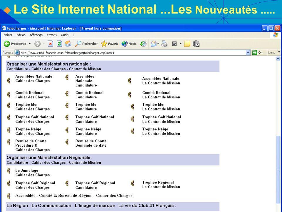 Le Site Internet National ...Les Nouveautés .....