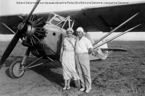 Gérard Delorme et son épouse devant le Potez 36 d'Edmond Delorme (Jacqueline Delorme)