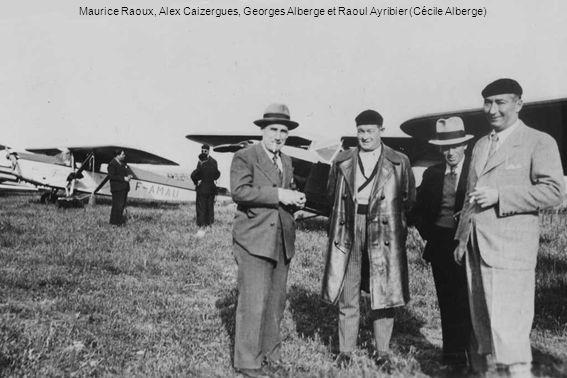 Maurice Raoux, Alex Caizergues, Georges Alberge et Raoul Ayribier (Cécile Alberge)