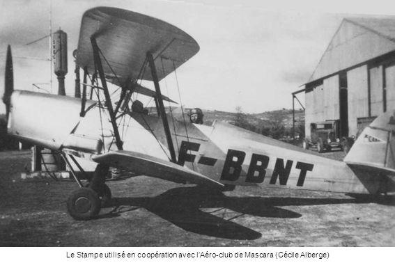 Le Stampe utilisé en coopération avec l'Aéro-club de Mascara (Cécile Alberge)