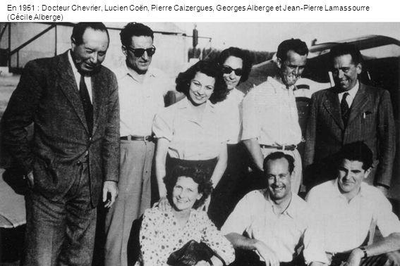 En 1951 : Docteur Chevrier, Lucien Coën, Pierre Caizergues, Georges Alberge et Jean-Pierre Lamassourre