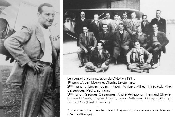 Le conseil d'administration du CABA en 1931.