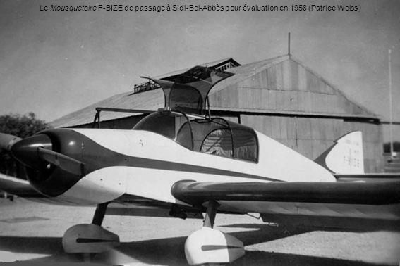 Le Mousquetaire F-BIZE de passage à Sidi-Bel-Abbès pour évaluation en 1958 (Patrice Weiss)