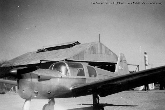 Le Norécrin F-BEBS en mars 1958 (Patrice Weiss)