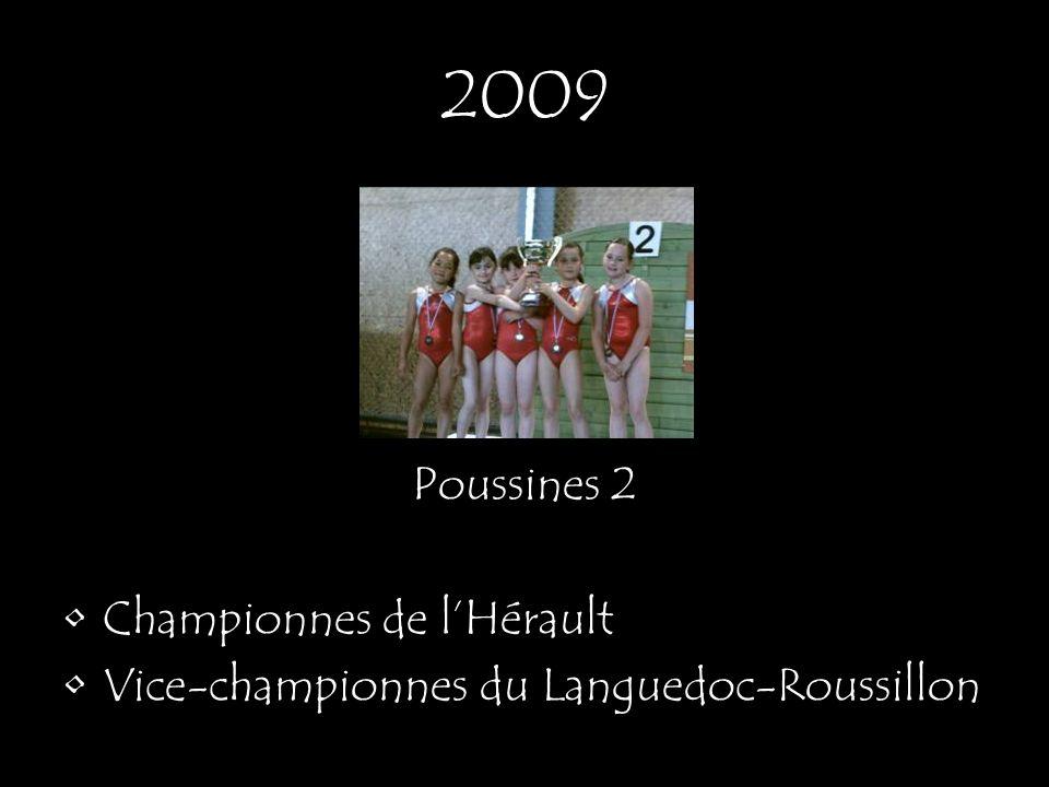 2009 Poussines 2 Championnes de l'Hérault