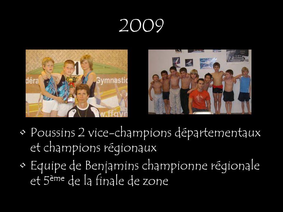 2009 Poussins 2 vice-champions départementaux et champions régionaux