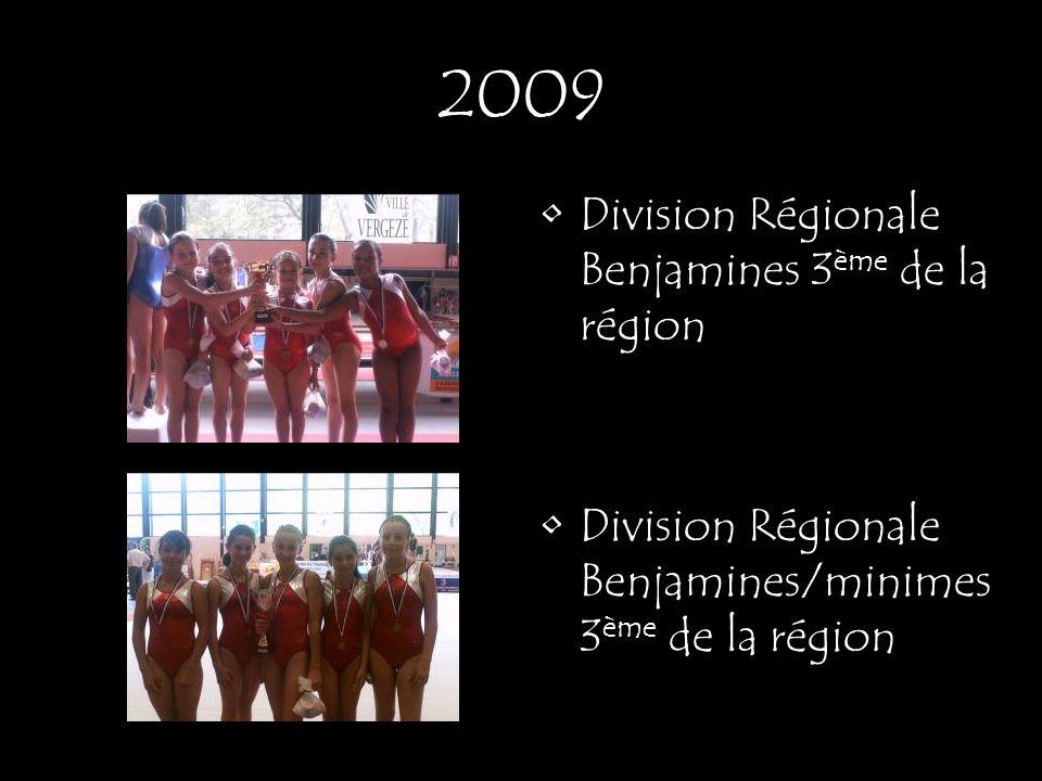 2009 Division Régionale Benjamines 3ème de la région