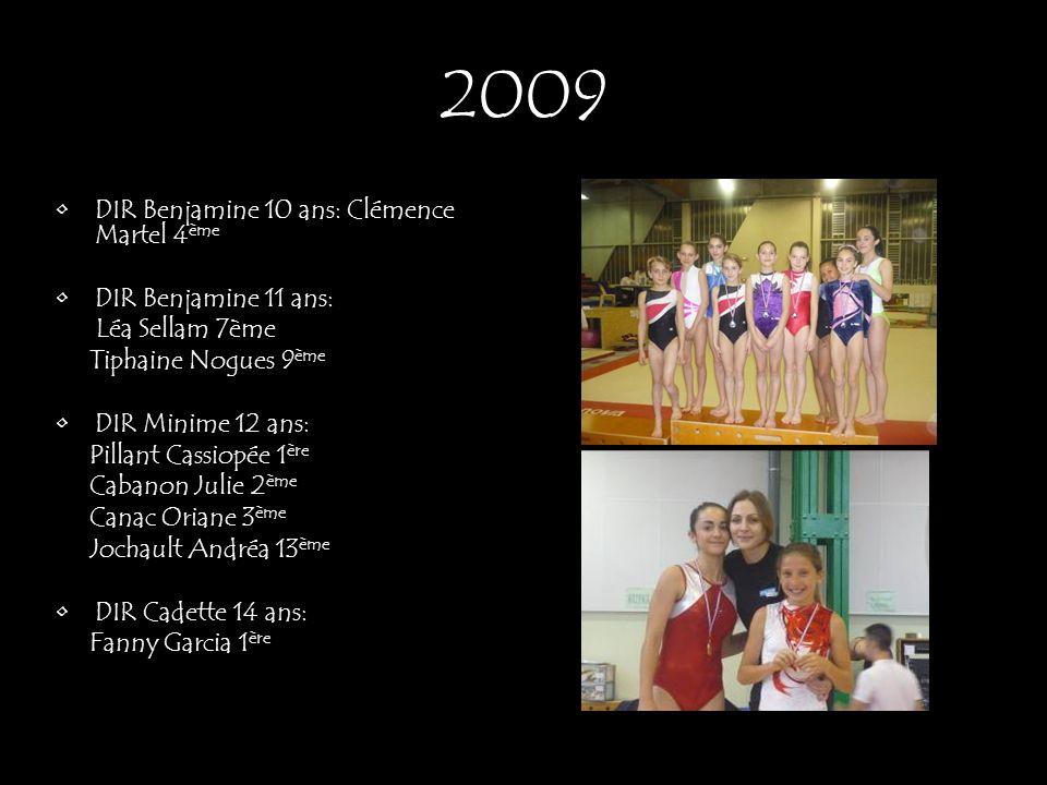 2009 DIR Benjamine 10 ans: Clémence Martel 4ème DIR Benjamine 11 ans: