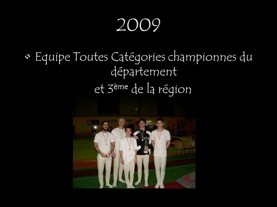 Equipe Toutes Catégories championnes du département