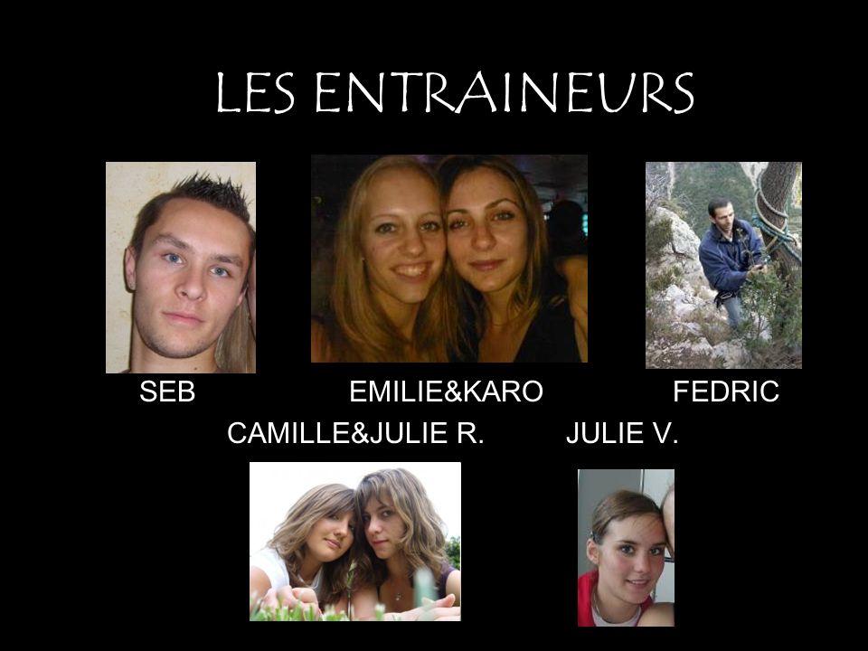 SEB EMILIE&KARO FEDRIC CAMILLE&JULIE R. JULIE V.