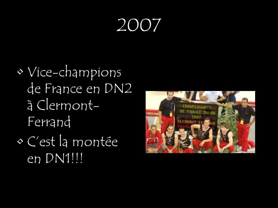2007 Vice-champions de France en DN2 à Clermont-Ferrand