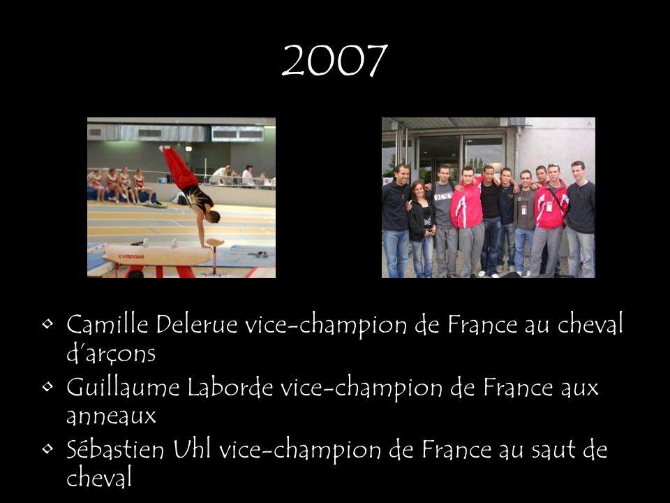 2007 Camille Delerue vice-champion de France au cheval d'arçons