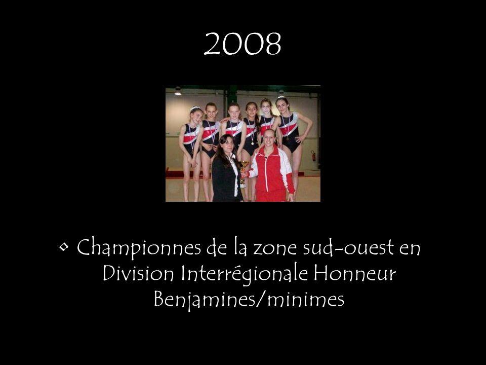 2008 Championnes de la zone sud-ouest en Division Interrégionale Honneur Benjamines/minimes