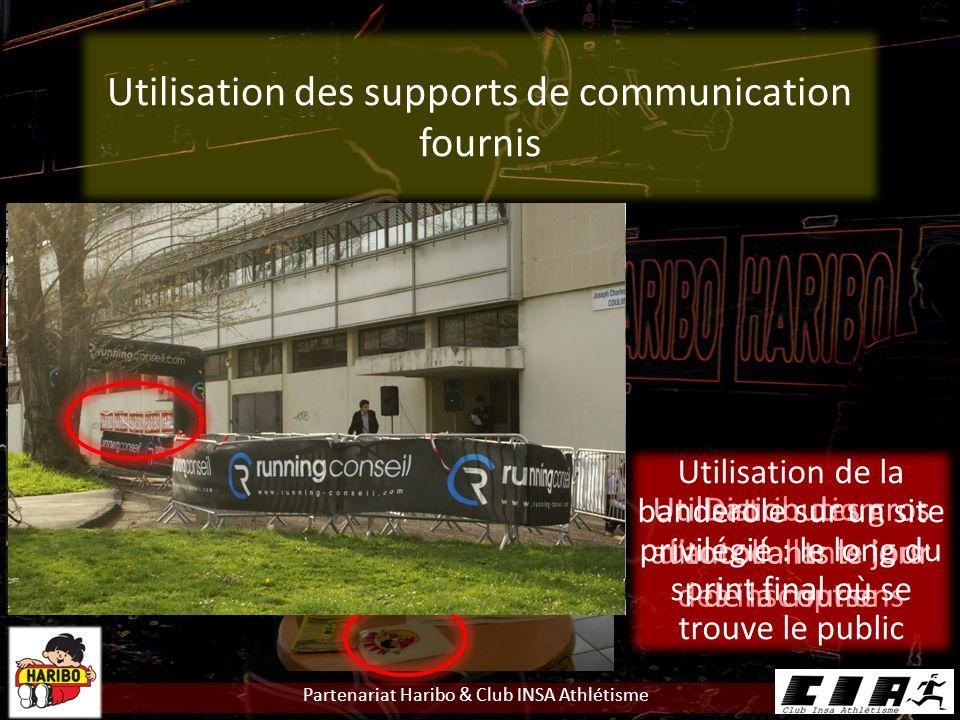 Utilisation des supports de communication fournis