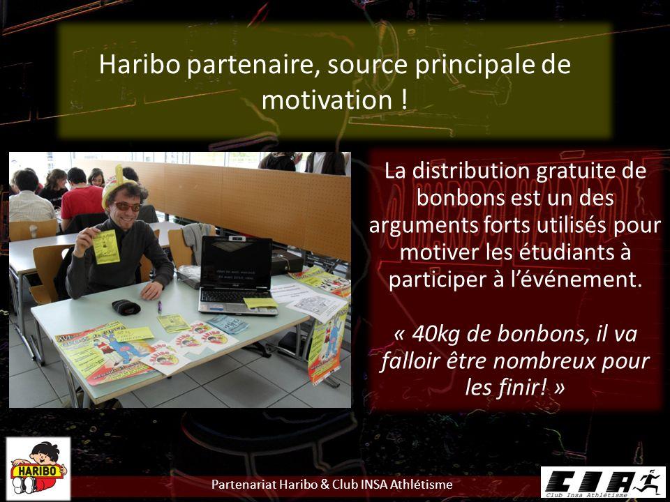 Haribo partenaire, source principale de motivation !