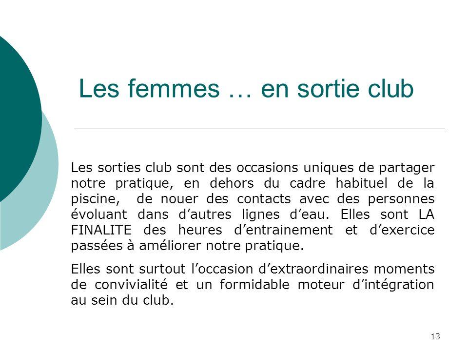 Les femmes … en sortie club