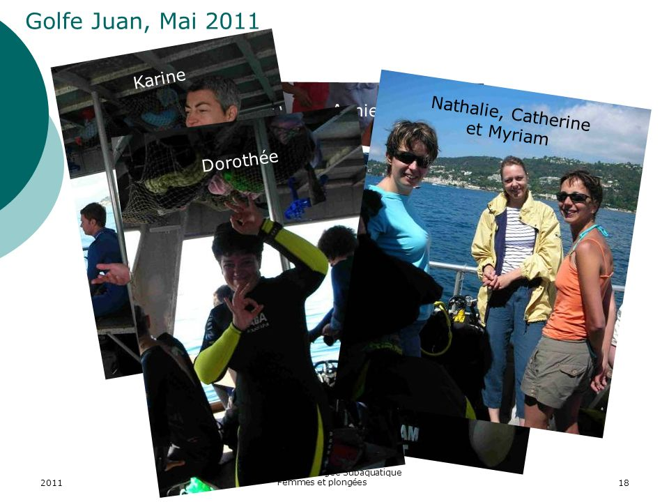 Golfe Juan, Mai 2011 Karine Nathalie, Catherine et Myriam Annie
