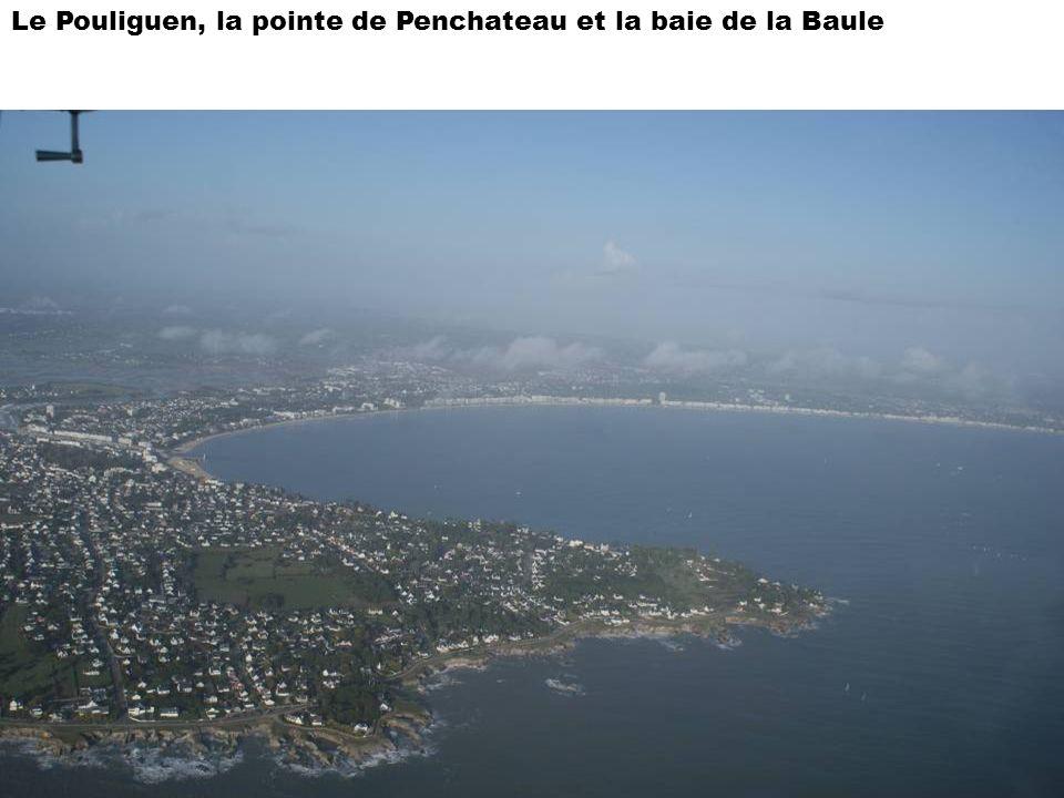 Le Pouliguen, la pointe de Penchateau et la baie de la Baule
