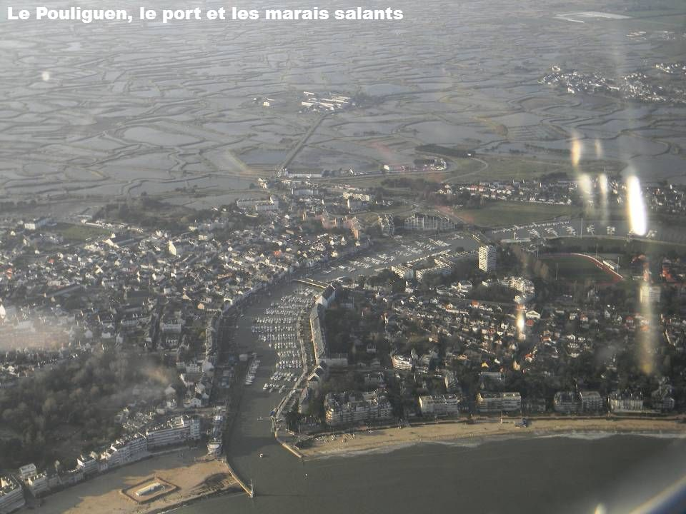 Le Pouliguen, le port et les marais salants