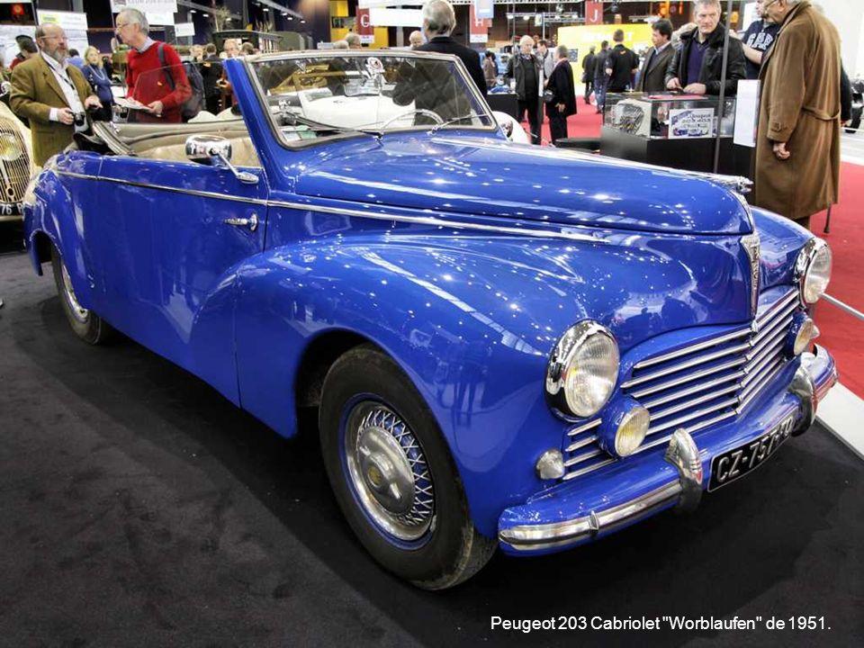 Peugeot 203 Cabriolet Worblaufen de 1951.
