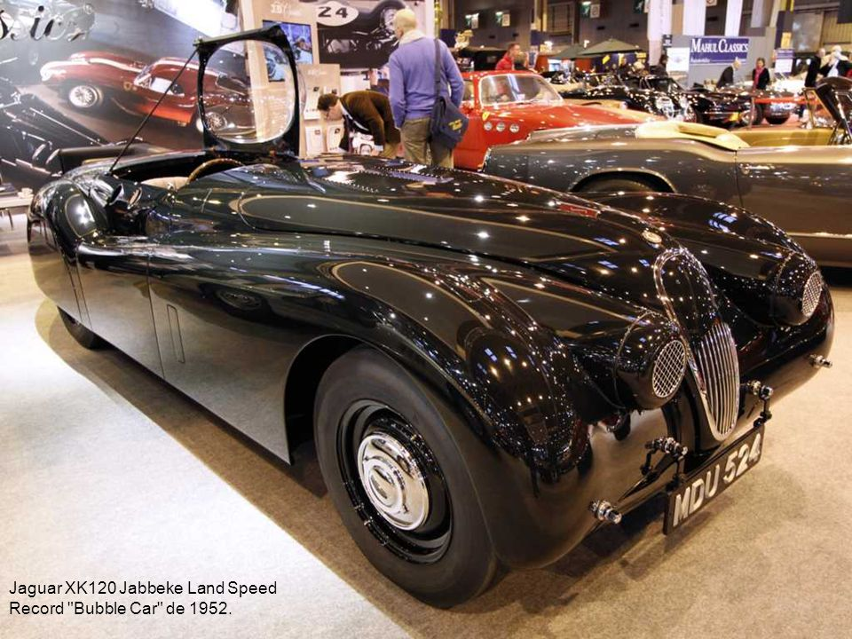 Jaguar XK120 Jabbeke Land Speed Record Bubble Car de 1952.