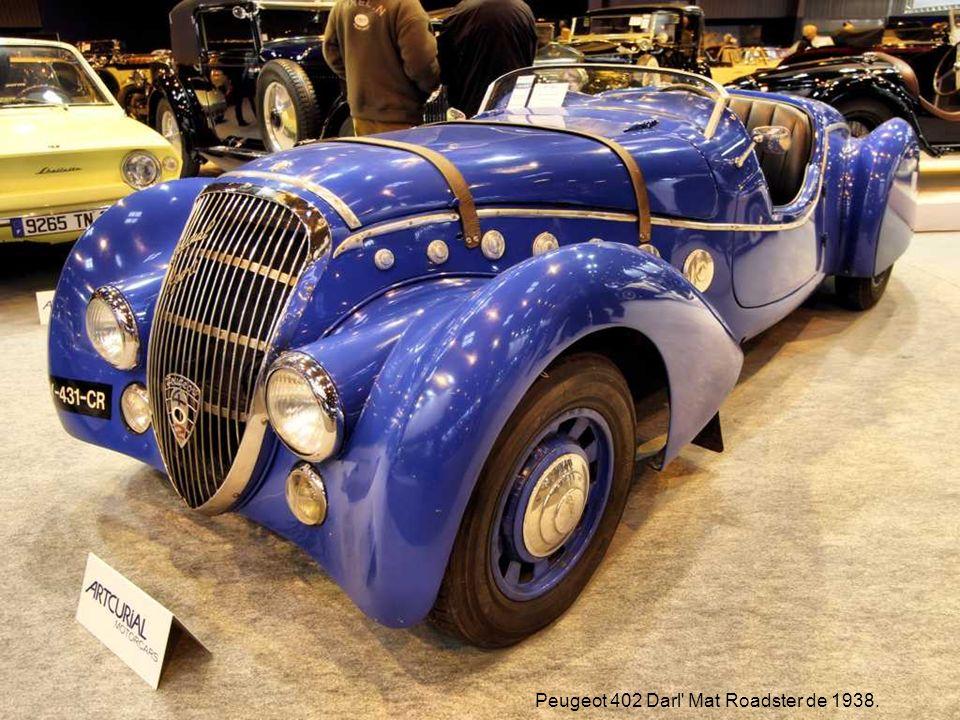 Peugeot 402 Darl Mat Roadster de 1938.