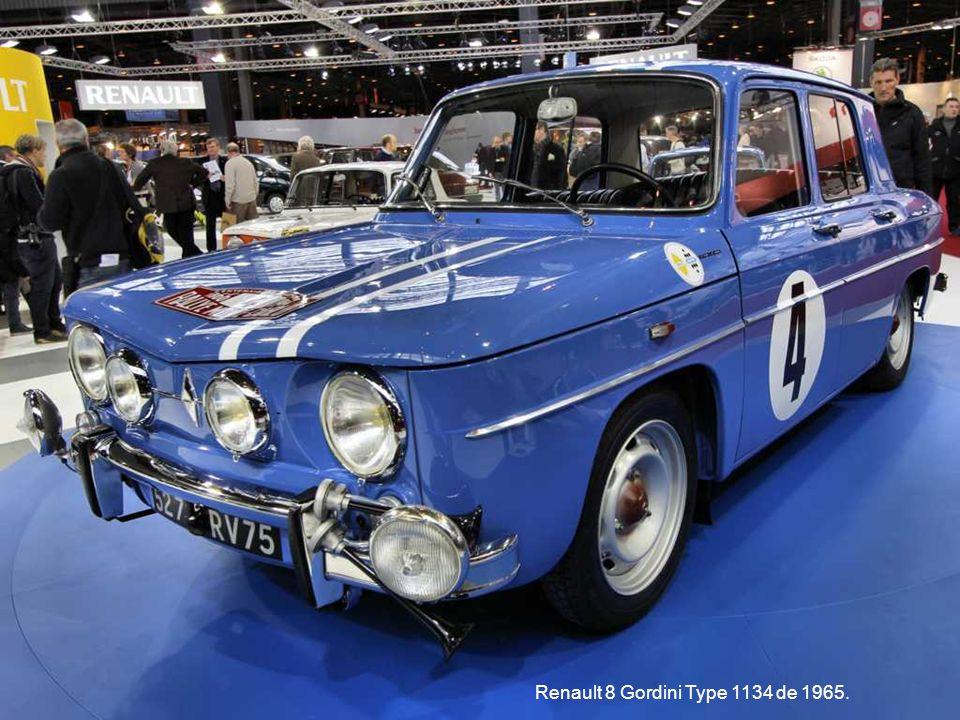 Renault 8 Gordini Type 1134 de 1965.