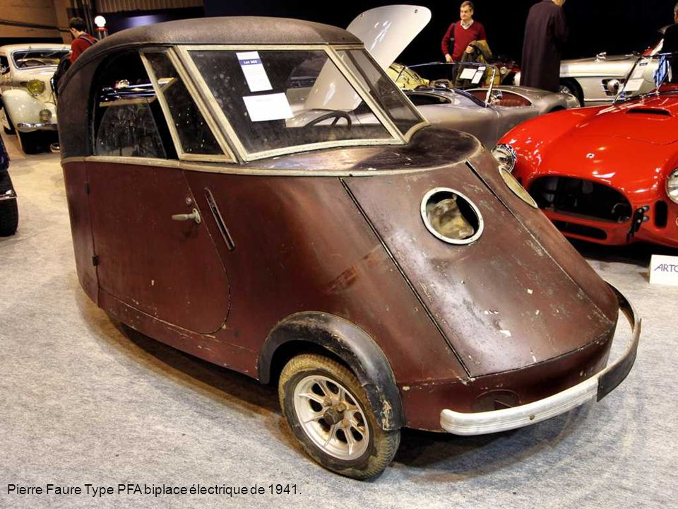 Pierre Faure Type PFA biplace électrique de 1941.