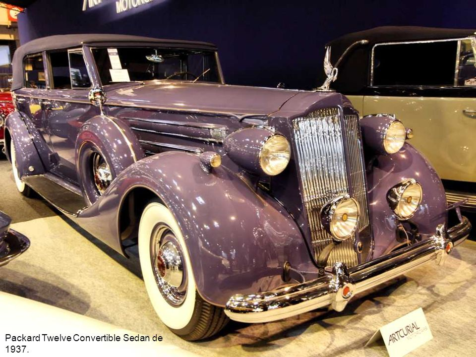 Packard Twelve Convertible Sedan de 1937.