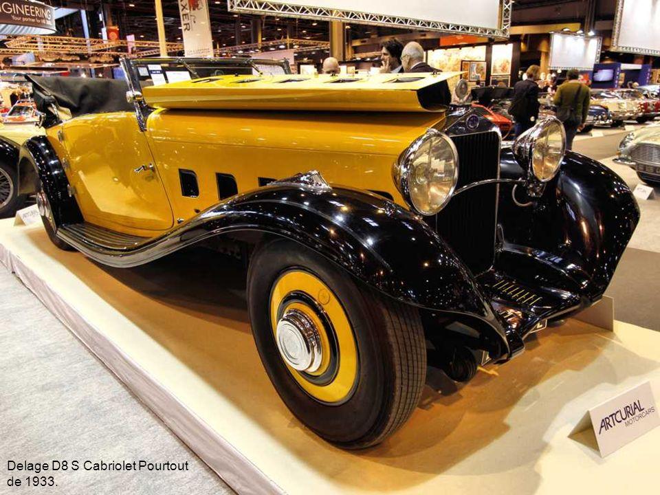 Delage D8 S Cabriolet Pourtout de 1933.