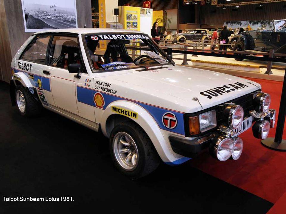Talbot Sunbeam Lotus 1981.