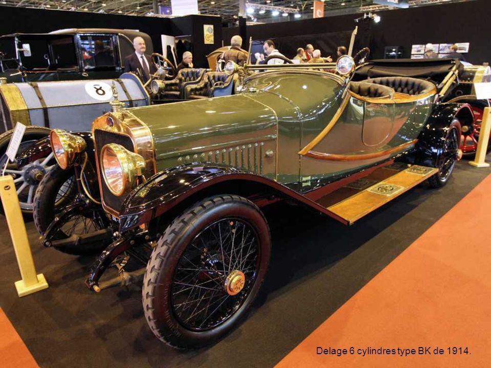 Delage 6 cylindres type BK de 1914.