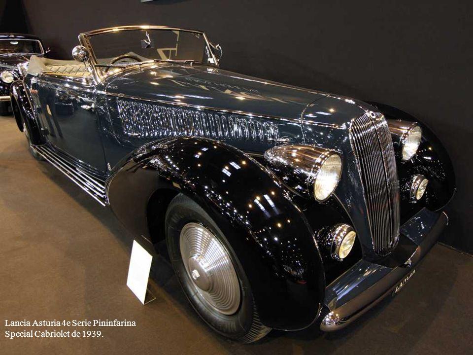 Lancia Asturia 4e Serie Pininfarina Special Cabriolet de 1939.