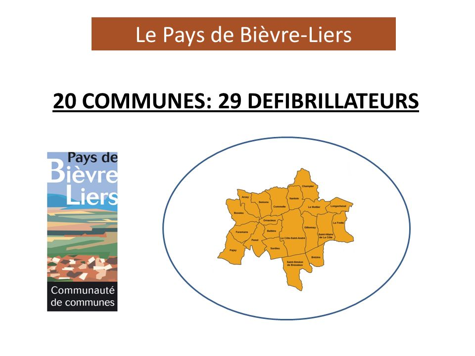 20 COMMUNES: 29 DEFIBRILLATEURS