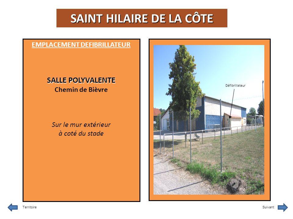 SAINT HILAIRE DE LA CÔTE EMPLACEMENT DEFIBRILLATEUR