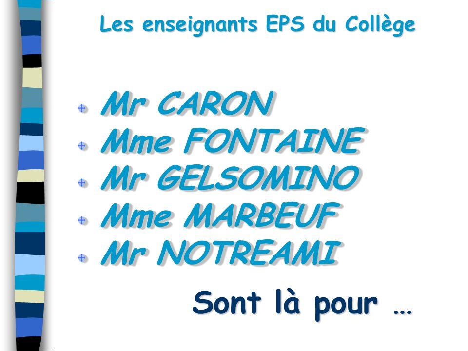 Les enseignants EPS du Collège