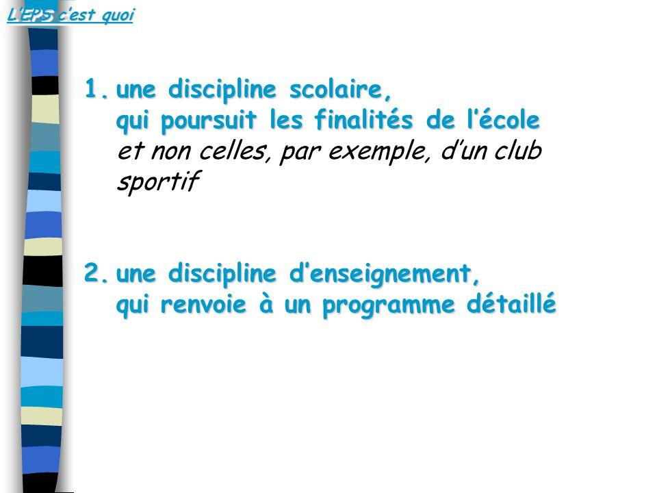 une discipline d'enseignement, qui renvoie à un programme détaillé
