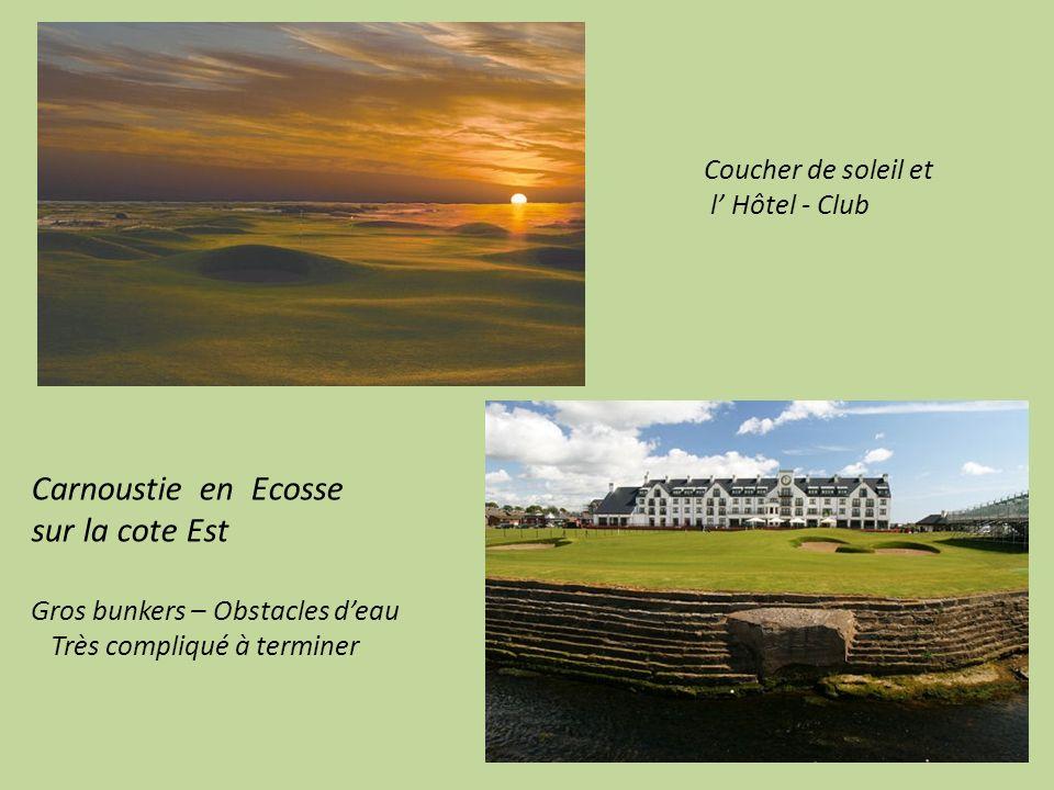 Carnoustie en Ecosse sur la cote Est Coucher de soleil et