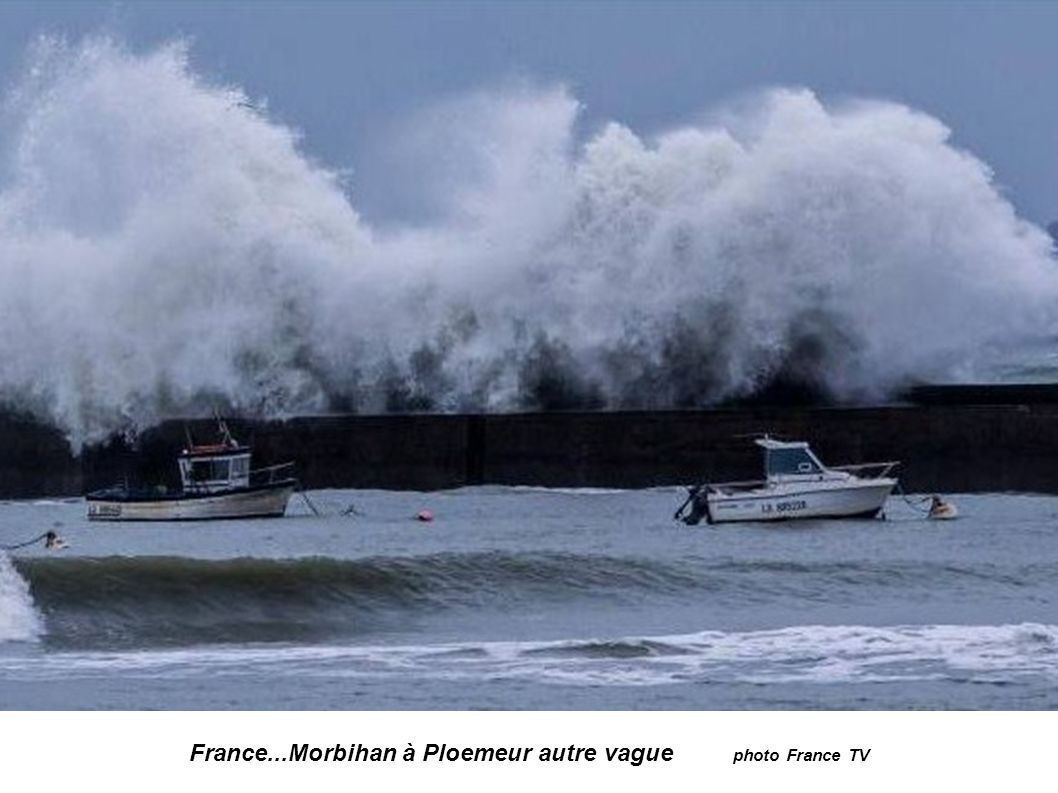 France...Morbihan à Ploemeur autre vague photo France TV