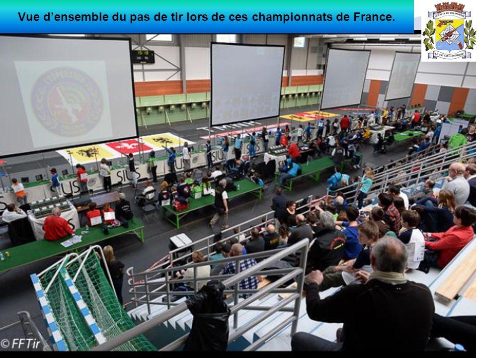 Vue d'ensemble du pas de tir lors de ces championnats de France.