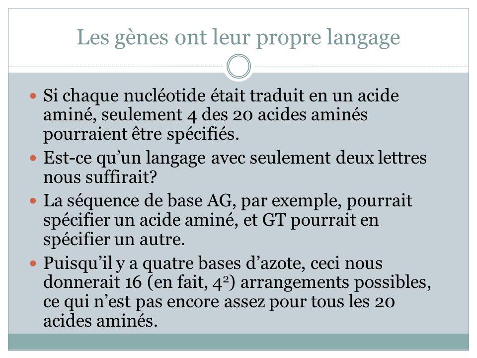 Les gènes ont leur propre langage