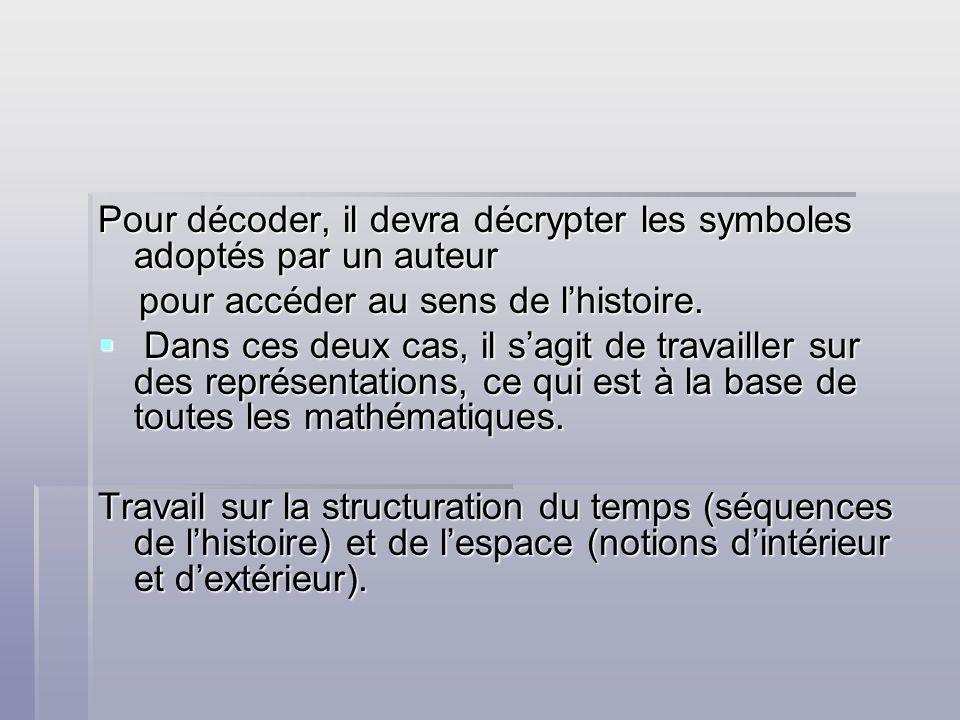 Pour décoder, il devra décrypter les symboles adoptés par un auteur