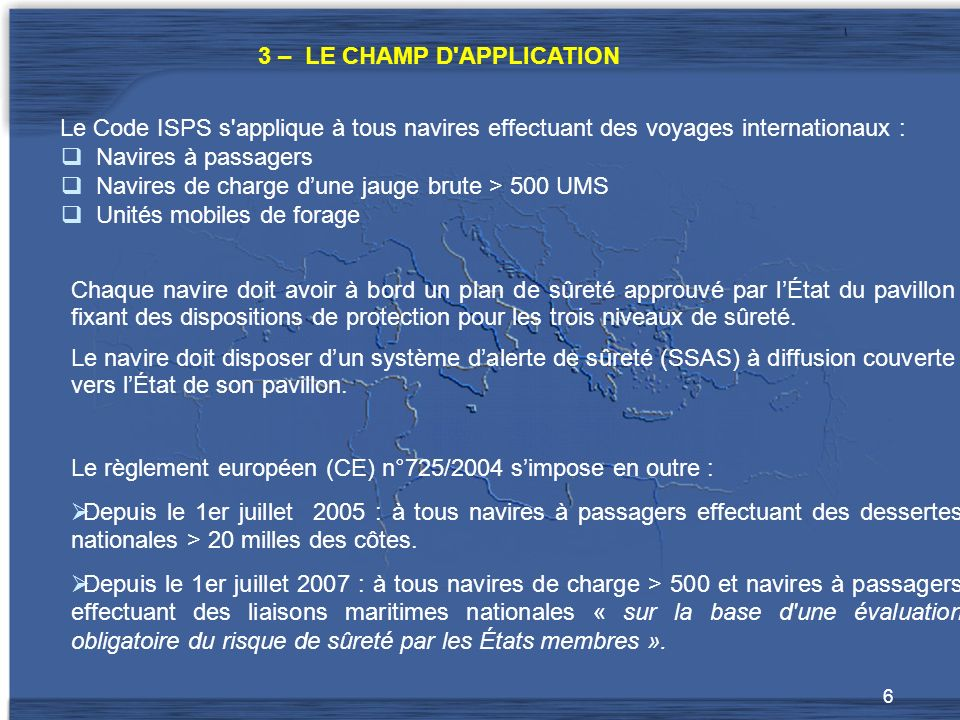 On distingue 2 champs d application :