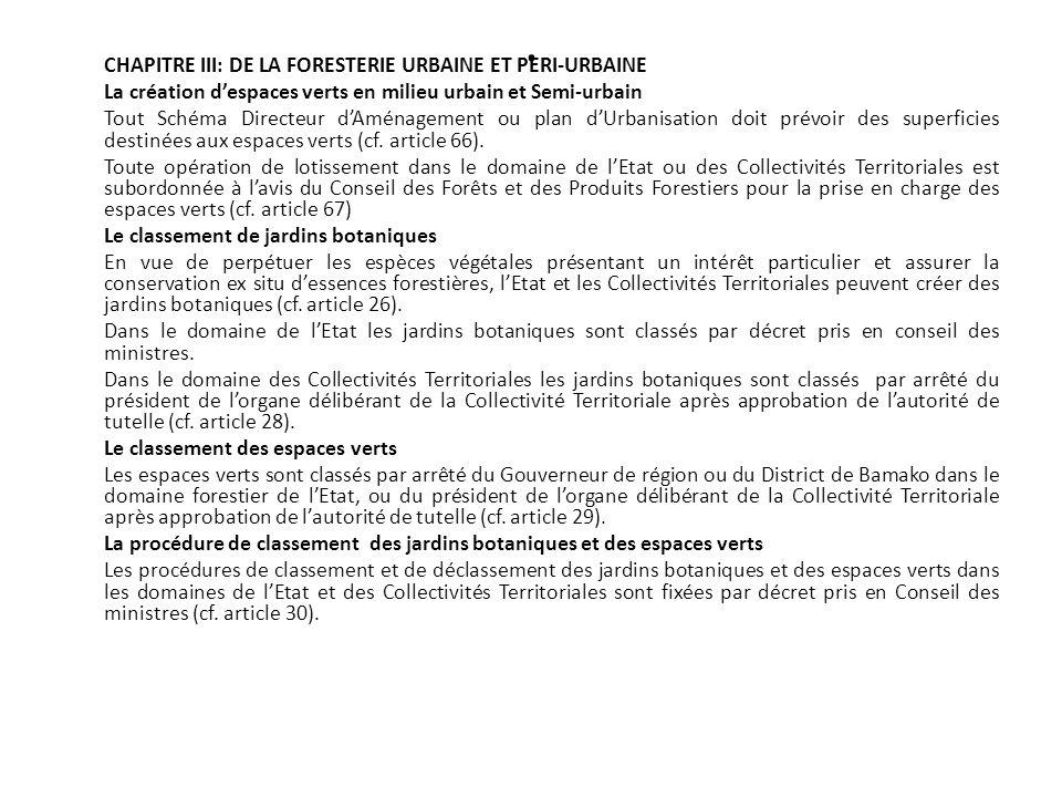 . CHAPITRE III: DE LA FORESTERIE URBAINE ET PERI-URBAINE